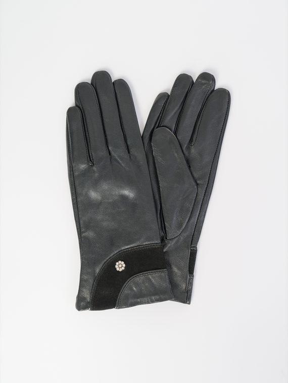 Перчатки кожа , цвет черный, арт. 18107967  - цена 1260 руб.  - магазин TOTOGROUP