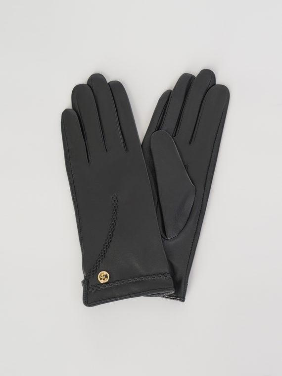 Перчатки кожа , цвет черный, арт. 18107973  - цена 1410 руб.  - магазин TOTOGROUP