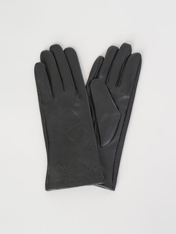 Перчатки кожа , цвет черный, арт. 18107974  - цена 1570 руб.  - магазин TOTOGROUP