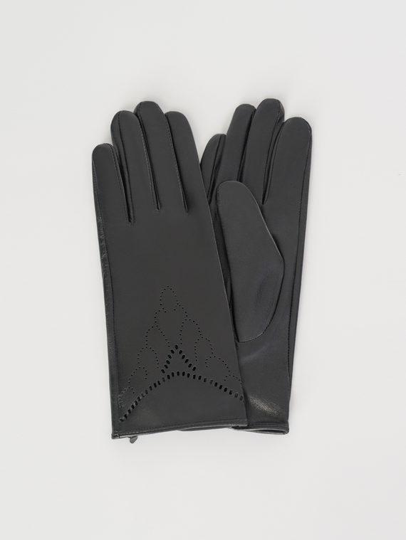 Перчатки кожа , цвет черный, арт. 18107976  - цена 1570 руб.  - магазин TOTOGROUP