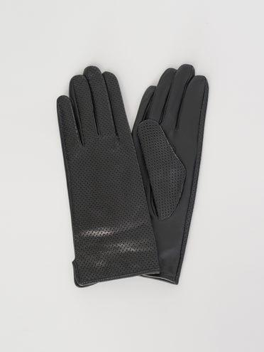 Перчатки кожа , цвет черный, арт. 18107977  - цена 1570 руб.  - магазин TOTOGROUP