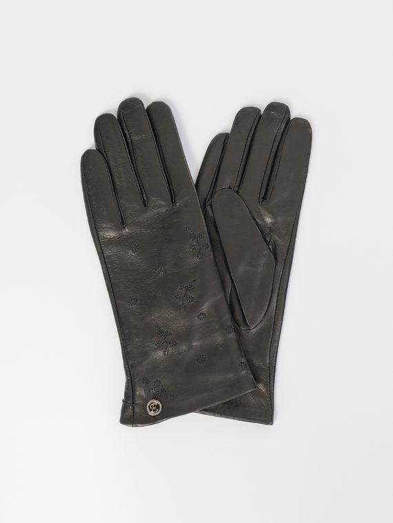 Перчатки кожа , цвет черный, арт. 18107979  - цена 1190 руб.  - магазин TOTOGROUP