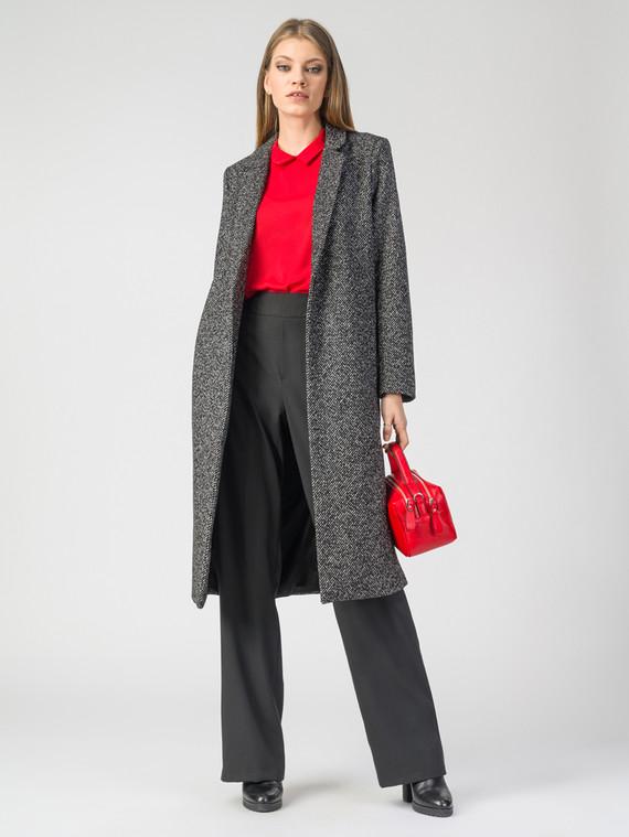 Текстильное пальто 30%шерсть, 70% п.э, цвет черный, арт. 18108101  - цена 4990 руб.  - магазин TOTOGROUP