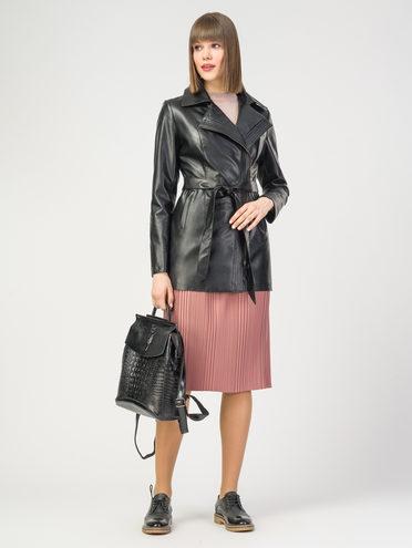Кожаная куртка эко-кожа 100% П/А, цвет черный, арт. 18108129  - цена 5590 руб.  - магазин TOTOGROUP