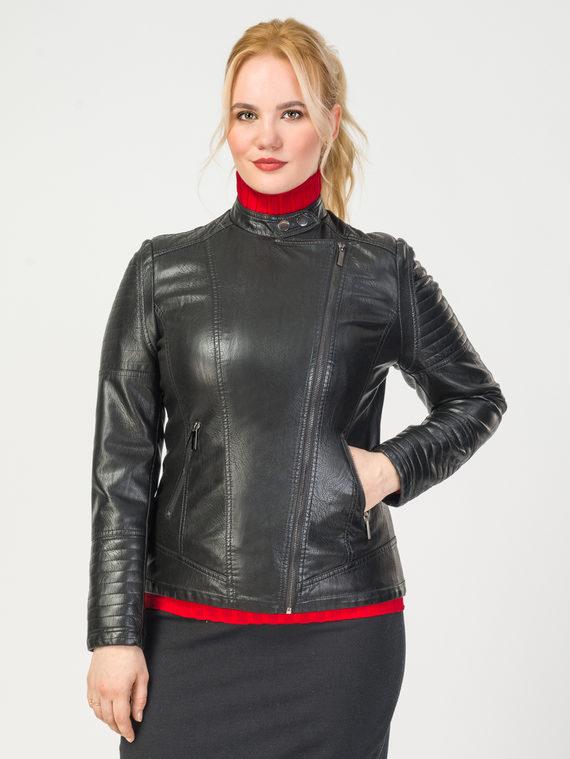 Кожаная куртка эко-кожа корова, цвет черный, арт. 18108154  - цена 4490 руб.  - магазин TOTOGROUP