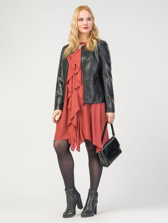 Кожаная куртка эко-кожа корова, цвет черный, арт. 18108155  - цена 5290 руб.  - магазин TOTOGROUP