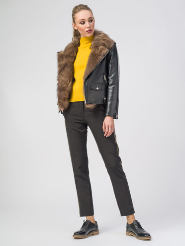 Кожаная куртка эко-кожа 100% П/А, цвет черный, арт. 18108157  - цена 7990 руб.  - магазин TOTOGROUP