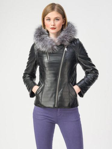 Кожаная куртка эко-кожа 100% П/А, цвет черный, арт. 18108158  - цена 6630 руб.  - магазин TOTOGROUP