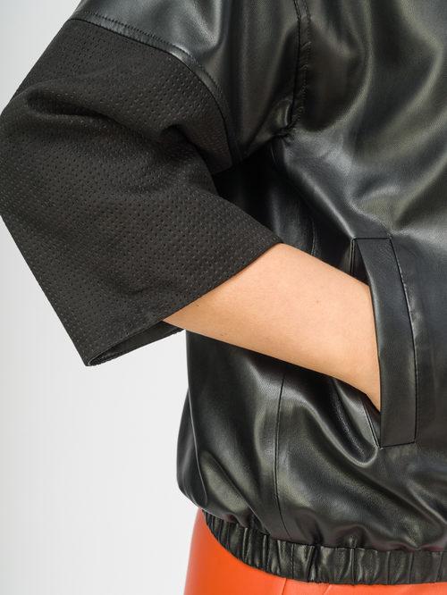 Кожаная куртка артикул 18108162/46 - фото 4