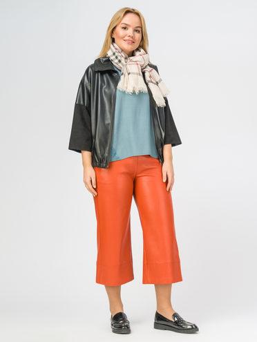 Кожаная куртка эко-кожа 100% П/А, цвет черный, арт. 18108162  - цена 3790 руб.  - магазин TOTOGROUP