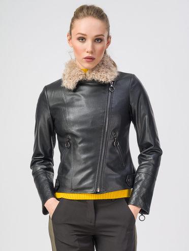 Кожаная куртка эко-кожа 100% П/А, цвет черный, арт. 18108167  - цена 6990 руб.  - магазин TOTOGROUP