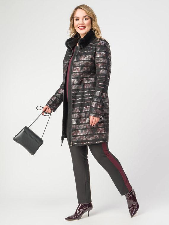 Кожаное пальто эко-замша 100% П/А, цвет черный, арт. 18108174  - цена 7990 руб.  - магазин TOTOGROUP
