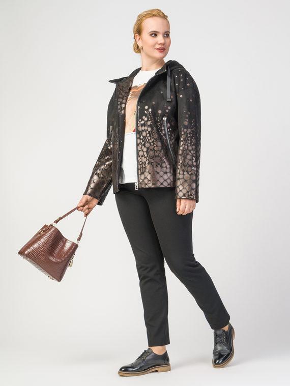 Кожаная куртка эко-замша 100% П/А, цвет черный, арт. 18108178  - цена 8490 руб.  - магазин TOTOGROUP