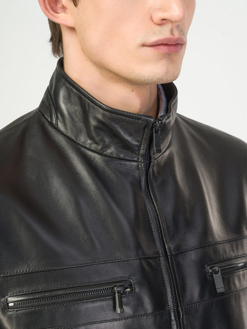 Кожаная куртка артикул 18108181/46 - фото 4