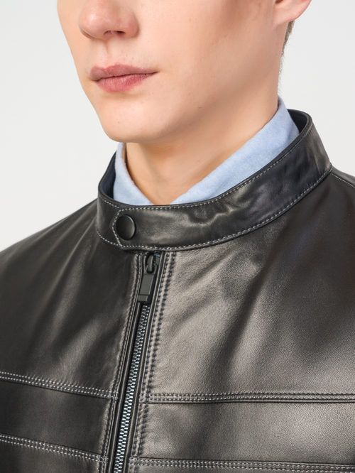 Кожаная куртка артикул 18108182/46 - фото 4