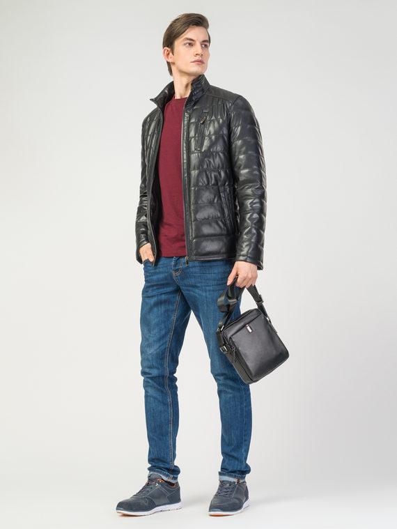 Кожаная куртка эко-кожа 100% П/А, цвет черный, арт. 18108196  - цена 7990 руб.  - магазин TOTOGROUP