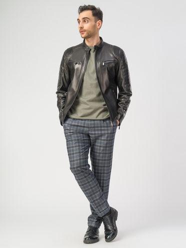 Кожаная куртка кожа , цвет черный, арт. 18108199  - цена 12690 руб.  - магазин TOTOGROUP