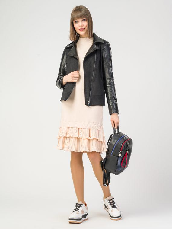 Кожаная куртка эко-замша 100% П/А, цвет черный, арт. 18108204  - цена 5890 руб.  - магазин TOTOGROUP