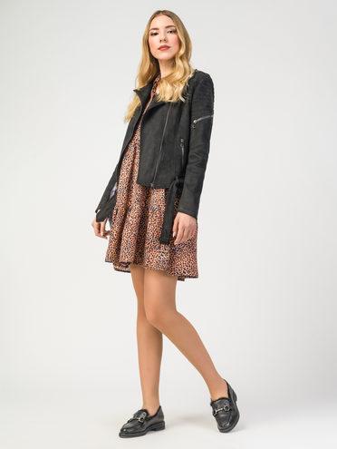 Кожаная куртка эко-замша 100% П/А, цвет черный, арт. 18108207  - цена 3990 руб.  - магазин TOTOGROUP