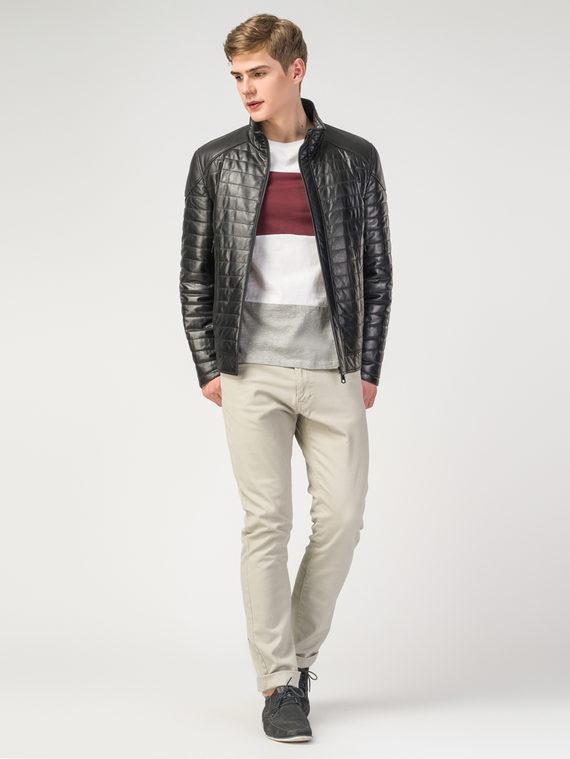 Кожаная куртка кожа , цвет черный, арт. 18108227  - цена 13390 руб.  - магазин TOTOGROUP