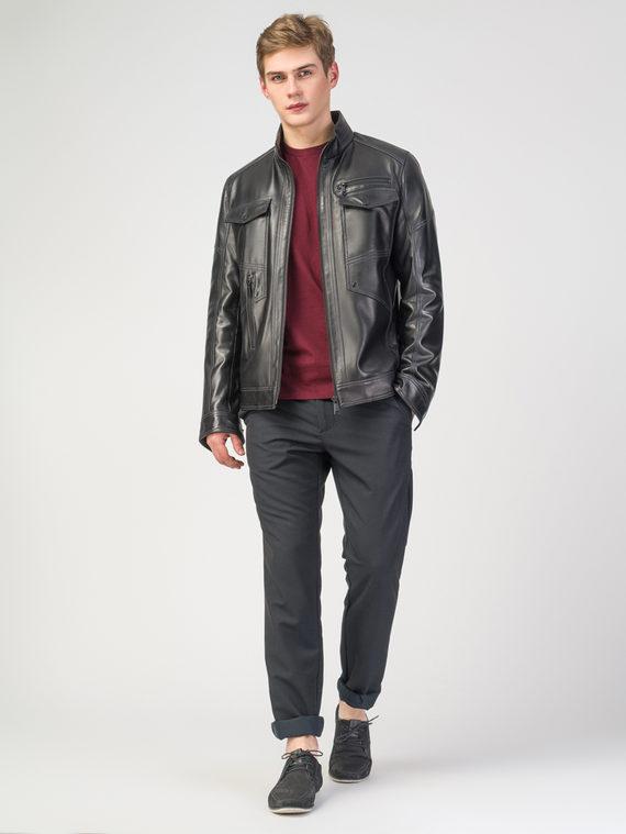Кожаная куртка кожа , цвет черный, арт. 18108228  - цена 18990 руб.  - магазин TOTOGROUP