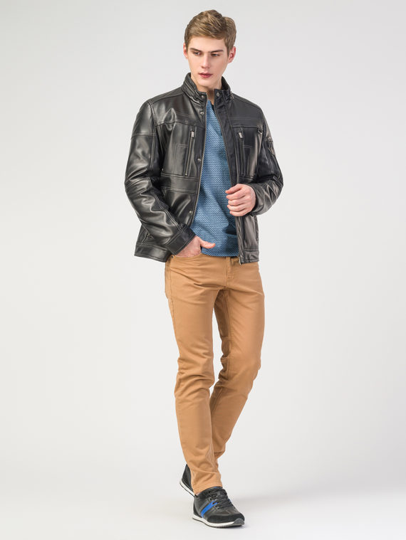 Кожаная куртка кожа , цвет черный, арт. 18108230  - цена 19990 руб.  - магазин TOTOGROUP