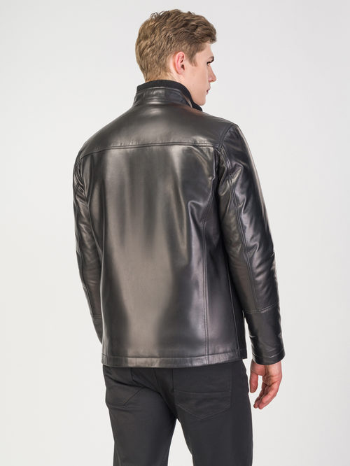 Кожаная куртка артикул 18108232/48 - фото 3