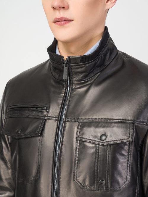 Кожаная куртка артикул 18108232/48 - фото 4