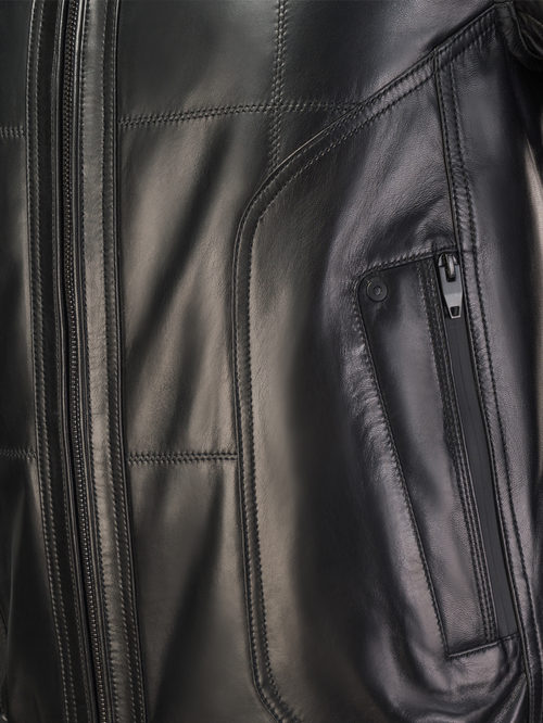Кожаная куртка артикул 18108233/48 - фото 4