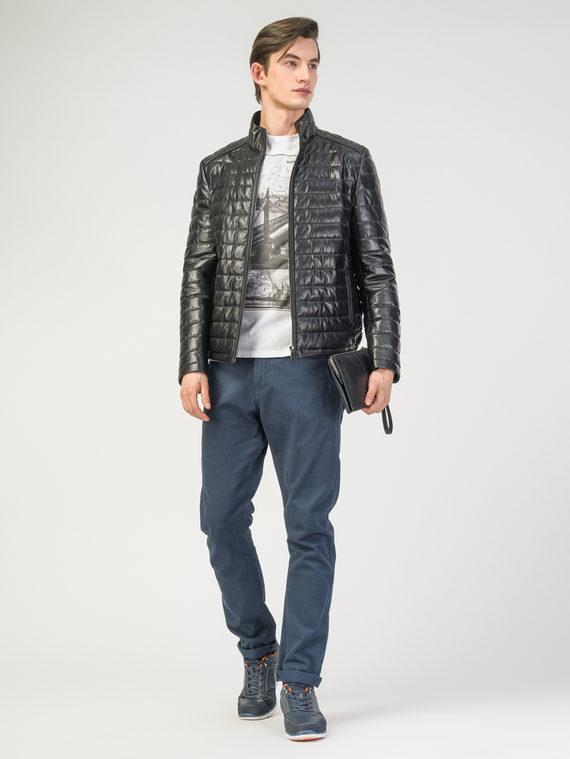 Кожаная куртка кожа , цвет черный, арт. 18108234  - цена 16990 руб.  - магазин TOTOGROUP
