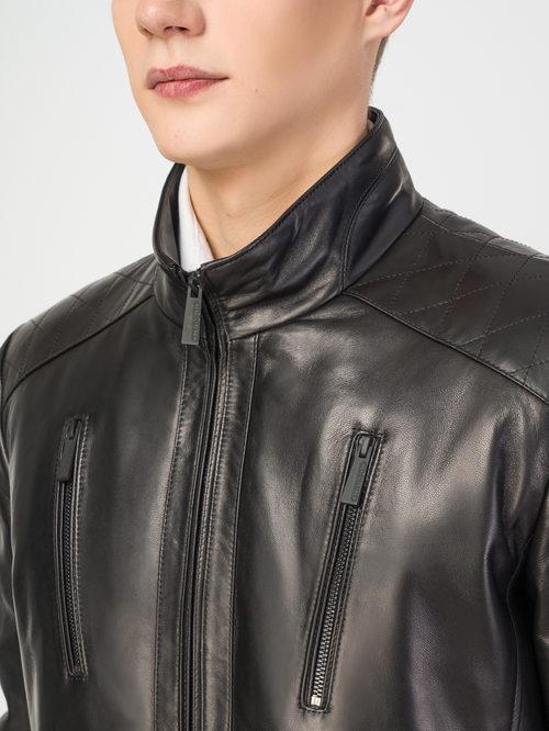 Кожаная куртка артикул 18108235/50 - фото 4