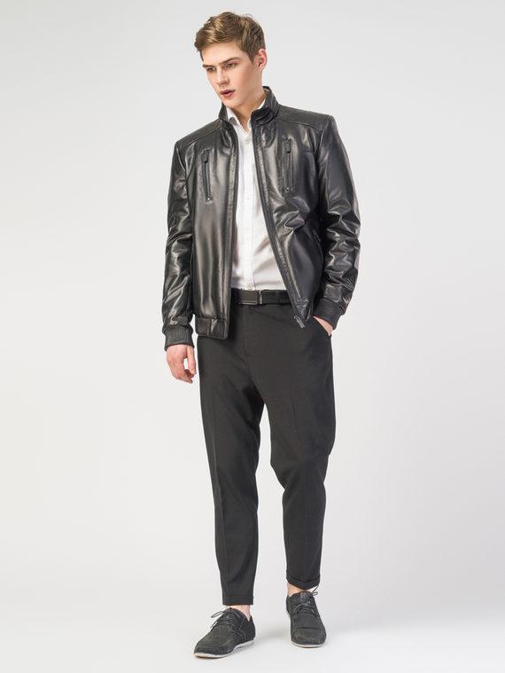 Кожаная куртка кожа , цвет черный, арт. 18108235  - цена 16990 руб.  - магазин TOTOGROUP