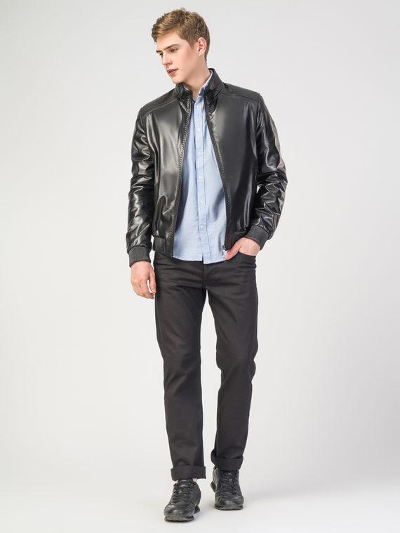 Кожаная куртка кожа , цвет черный, арт. 18108236  - цена 17990 руб.  - магазин TOTOGROUP