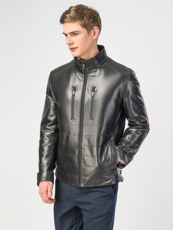 Кожаная куртка кожа , цвет черный, арт. 18108237  - цена 17990 руб.  - магазин TOTOGROUP