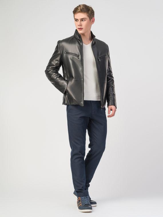 Кожаная куртка кожа , цвет черный, арт. 18108238  - цена 17990 руб.  - магазин TOTOGROUP