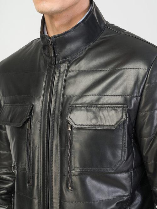 Кожаная куртка артикул 18108239/54 - фото 4