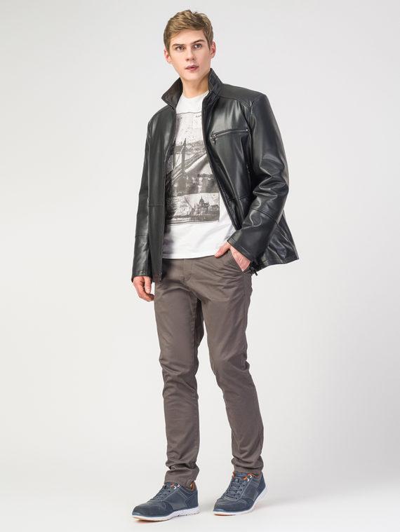 Кожаная куртка эко-кожа 100% П/А, цвет черный, арт. 18108241  - цена 8490 руб.  - магазин TOTOGROUP