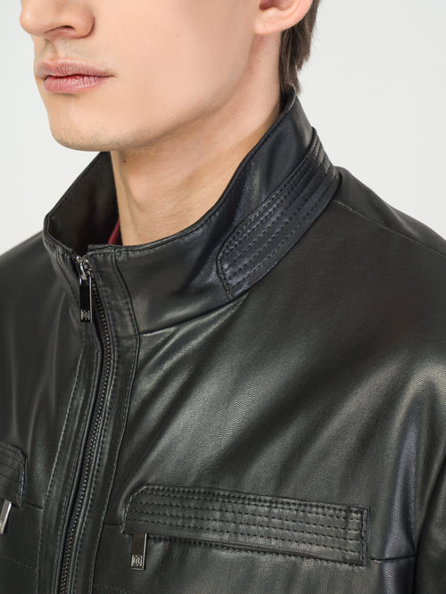 Кожаная куртка артикул 18108242/46 - фото 4