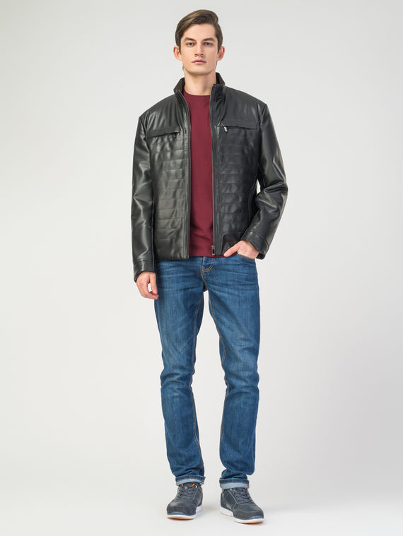 Кожаная куртка эко-кожа 100% П/А, цвет черный, арт. 18108242  - цена 8490 руб.  - магазин TOTOGROUP