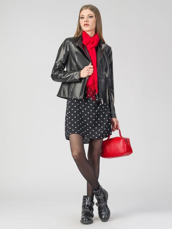 Кожаная куртка кожа , цвет черный, арт. 18108272  - цена 12690 руб.  - магазин TOTOGROUP