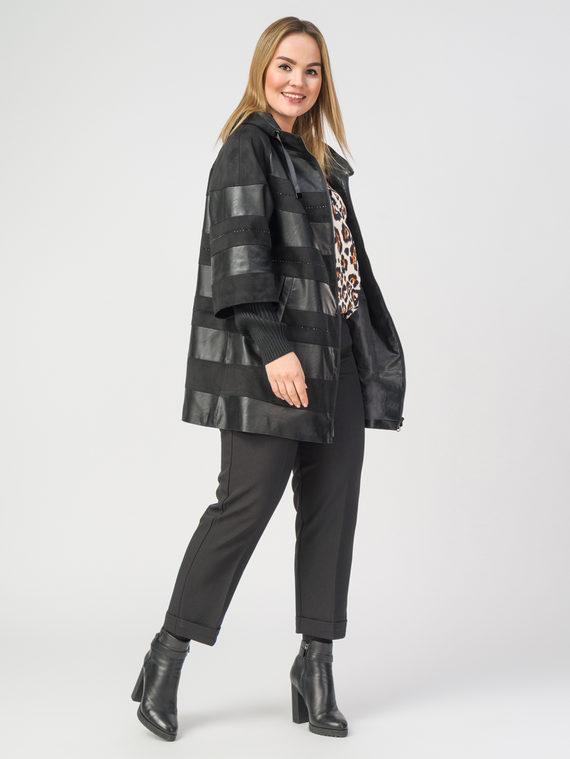 Кожаное пальто эко-кожа 100% П/А, цвет черный, арт. 18108274  - цена 8990 руб.  - магазин TOTOGROUP