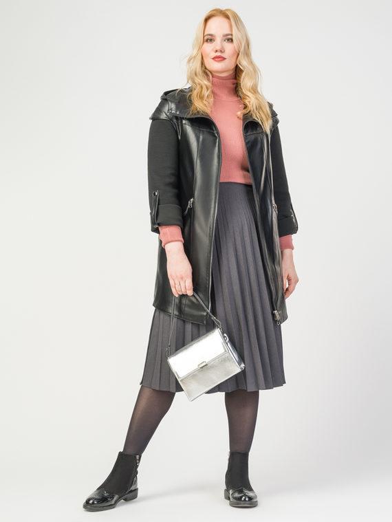 Кожаная куртка эко-кожа 100% П/А, цвет черный, арт. 18108280  - цена 8990 руб.  - магазин TOTOGROUP