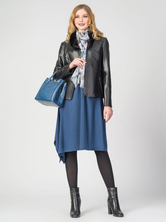 Кожаная куртка кожа , цвет черный, арт. 18108286  - цена 17990 руб.  - магазин TOTOGROUP