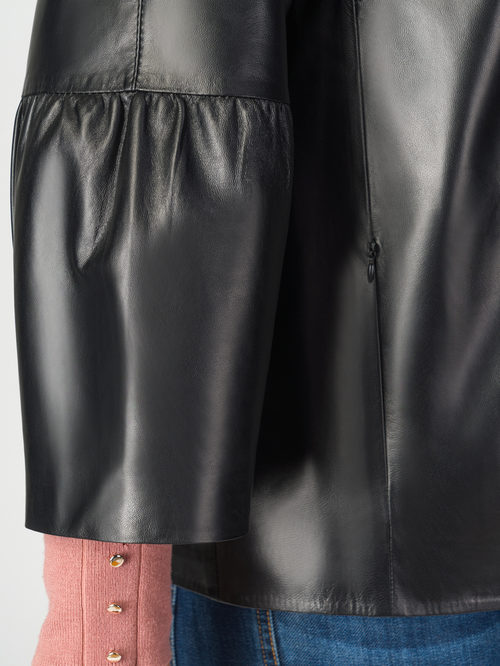 Кожаная куртка артикул 18108288/50 - фото 4