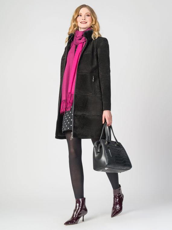 Кожаное пальто кожа замша, цвет черный, арт. 18108291  - цена 23990 руб.  - магазин TOTOGROUP