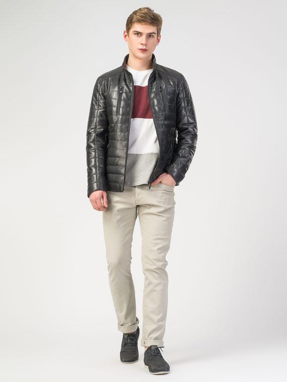 Кожаная куртка кожа , цвет черный, арт. 18108292  - цена 14990 руб.  - магазин TOTOGROUP