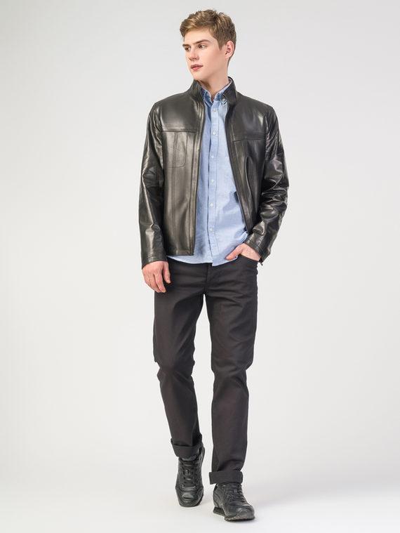 Кожаная куртка кожа , цвет черный, арт. 18108294  - цена 19990 руб.  - магазин TOTOGROUP
