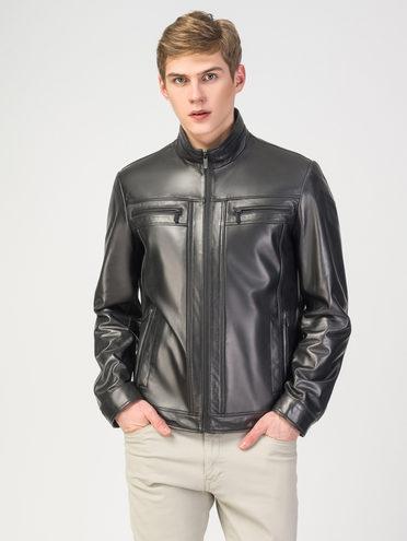 Кожаная куртка кожа , цвет черный, арт. 18108296  - цена 9990 руб.  - магазин TOTOGROUP