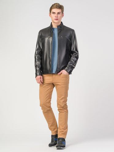 Кожаная куртка кожа , цвет черный, арт. 18108297  - цена 9990 руб.  - магазин TOTOGROUP