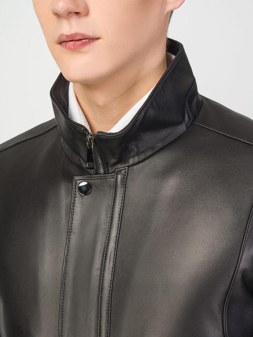 Кожаная куртка артикул 18108299/52 - фото 4